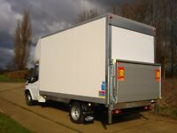 MAN&VAN LATGE LUTON VAN WITH TAIL LIFT 24/7SHORT NOTICE HOUSE OFFICE FLAT STUDENT MOVERS ALL OVER UK