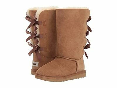Ugg Big Girls Kids Bailey Bow Tall Boots Chestnut Brown Size 6 1007309Y K NIB * Big And Tall Boots