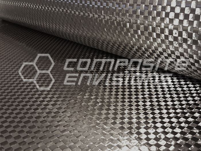 "Carbon Fiber Fabric Plain Weave Primetex 12k 192gsm/5.66oz 50"" Spread Tow"