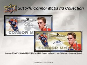 2015-16 Upper Deck Connor McDavid Collection Trading Cards Box Kitchener / Waterloo Kitchener Area image 3