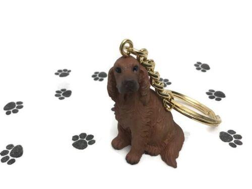 Irish Setter Dog Tiny One Resin Keychain Key Chain Ring