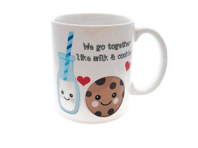 MILK AND COOKIES Coffee Tea Mug GIFT Best Friends Boyfriend Girlfriend Bestie ()