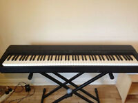 yamaha p140 digital piano with a cross stand, cross stool and notes stand