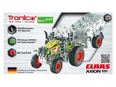Tronico Micro Series Claas Axion 850 Traktor mit Kippanhänger ab 12 Jahren