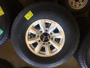 Brand New HD 8 Bolt Trailer Tires on Alloy Wheels