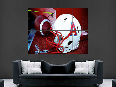 AMERCIAN FOOTBALL AND HELMET SPORTS  WALL POSTER ART PICTURE PRINT LARGE  HUGE