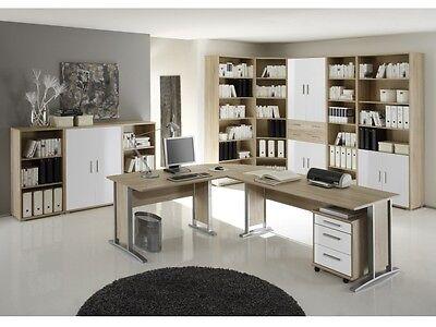 NEU Büro Komplett Office Line Sonoma Büromöbel XXL Set mit 11 Teilen 109510