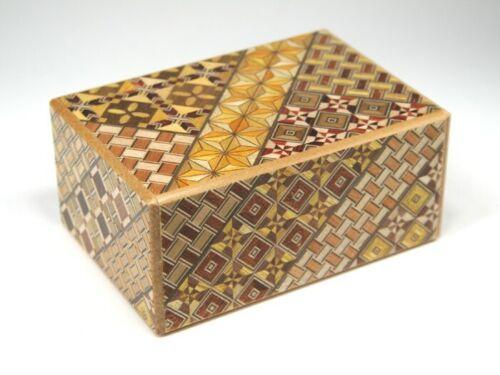 Japanese Hand Made Yosegi Puzzle Box 4 sun 21 steps