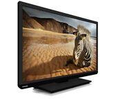 "Toshiba 32"" LED TV BUILT IN DVD PLAYER usb vga hdmi Freeview"