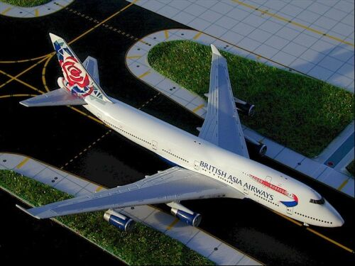 "GEMINI (GJBAW021) BRITISH ASIA ""CHELSEA ROSE"" 747-400 1:400 SCALE DIECAST MODEL"
