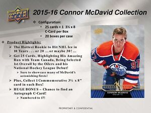 2015-16 Upper Deck Connor McDavid Collection Trading Cards Box Kitchener / Waterloo Kitchener Area image 4