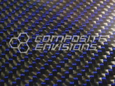 Carbon Fiber Panel Made With Kevlar Blue .012.3mm 2x2 Twill-48x48