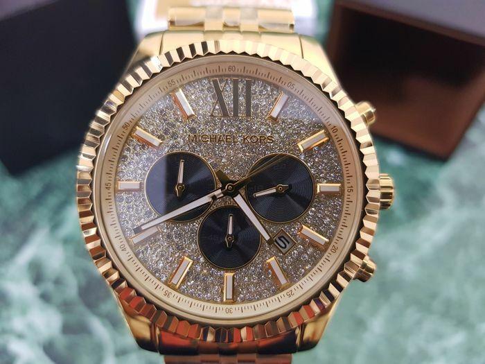 Michael Kors Men's MK8494 44MM Lexington Chronograph Crystal