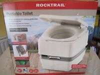 Rocktrail portable toilet new in box Can be used for camping, construction or garden shed.