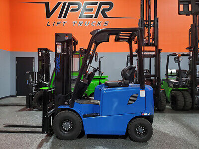 2020 Viper Fb15 3000lb Air Pneumatic Forklift Electric 48v Batter Lift Truck