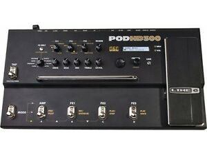 Line 6 Pod HD300 guitar multi effects with power supply