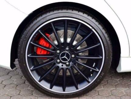 4 x GENUINE Mercedes Black 19 inch A45/CLA45 AMG Alloy Wheels