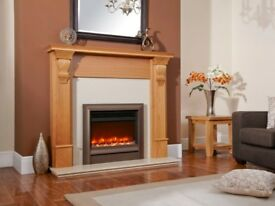 Celsi Electriflame Oxford Brown Hearth Mounted 16 Inch Electric Fire