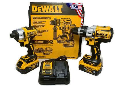 DeWalt 20V MAX XR Hammer Drill/Impact Combo Kit w/ (2) 5Ah Batteries DCK299P2