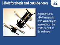 J-Bolt for Sheds doors etc