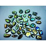 1000Cts Natural Multi Flash Labradorite Gemstone Cabochon Lot 20 Pcs Gemedh