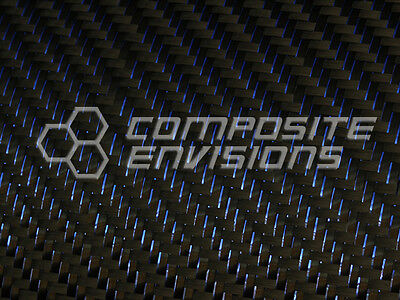 Blue Reflections Carbon Fiber Fabric 2x2 Twill 50 3k 5.9oz