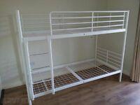 Metal Bunk Bed Frame - White Ikea.