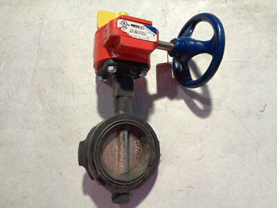 Nibco 3 Wafer Butterfly Valve W Fire Control Fig Wd-3510-4