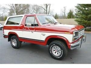 WANTED 1980 1990 Ford Bronco Or II Red And White