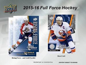 2015-16 Upper Deck Full Force Hockey Trading Cards Box Kitchener / Waterloo Kitchener Area image 6