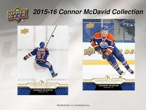2015-16 Upper Deck Connor McDavid Collection Trading Cards Box Kitchener / Waterloo Kitchener Area image 2