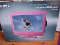 """Bush 19"""" hd ready digital lcd tv with built in dvd player"""