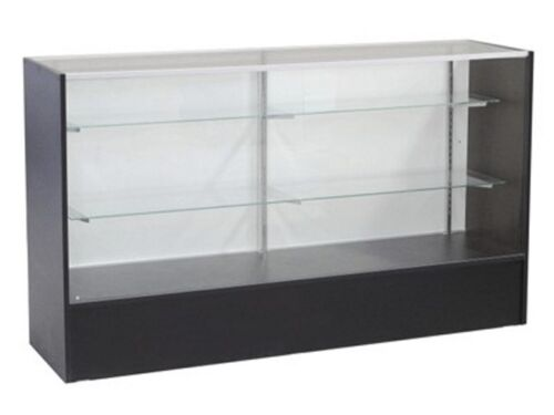 NEW 4ft Black Full Vision Display Case Showcase Stand Store Fixtures Cabinet