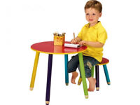 BRAND NEW CHILDRENS PENCIL TABLE AND 1 STOOL