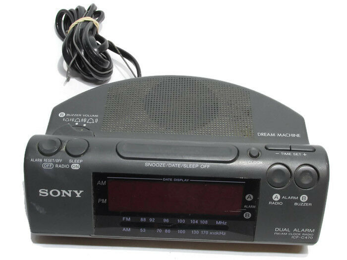 Sony Dream Machine ICF-C470 FM/AM Vintage Radio Alarm Clock by Sony