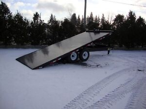 20' Hydraulic Tilt Deckover Float - Built in Canad