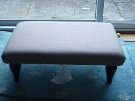 JOHN LEWIS LONG PADDED FOOT STOOL IN LIGHT BROWN UNUSED STILL WITH TAGS