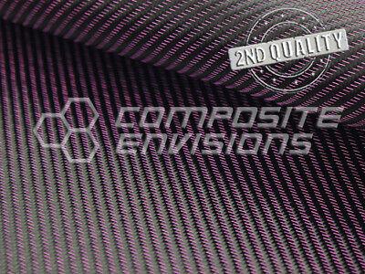 2nd Quality Hot Pink Mirage Carbon Fiber Fabric 2x2 Twill 3k 50127cm 8.6oz