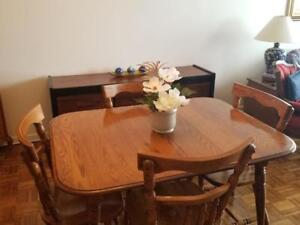 Furniture For Sale: Dining Table, Cabinet, Hutch, Mirror
