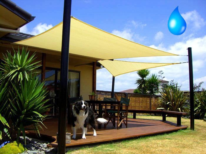 Sonnensegel Sonnendach Sonnenschutz Regenschutz Windschutz atmungsaktiv Rechteck