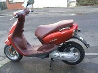 YAMAHA YN50 NEOS SCOOTER NEVER USED NO MILAGE ETC PRE-REG 2015 FINANCE ETC £1199