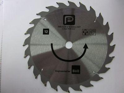 Kreissägeblatt Hartmetall HM 200x16 x2,5mm 24 Zähne Holz Deutscher Hersteller