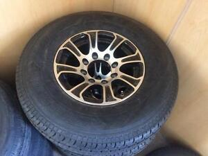 Brand New HD 235/85R16 Trailer Tires on 8 Bolt Alloys