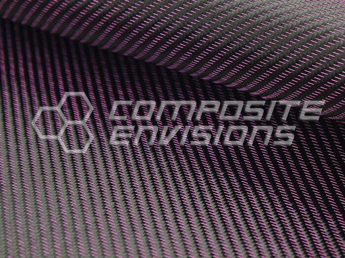 "Hot Pink Mirage™ Carbon Fiber Cloth Fabric 2x2 Twill 50"" 3k 8.6oz High Density"