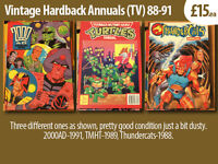 Comic & Hardback Annuals (comics, tv, celebratory) Various Types x10, see images 1970-90's.