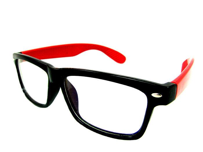 Brille Kurzsichtig RAY Putztuch Farbe Rot Stärke Fernbrille Modern Etui Dioptri