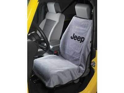 Jeep Wrangler Cherokee Commander Compass Liberty Patriot Gray Seat Cover Towel  ()