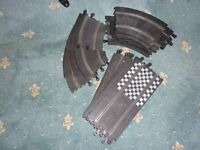 VINTAGE SCALEXTRIC TRACK STRIGHTS AND CORNERS.
