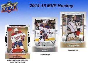 2014-15 Upper Deck MVP Hockey Trading Cards Box Kitchener / Waterloo Kitchener Area image 5
