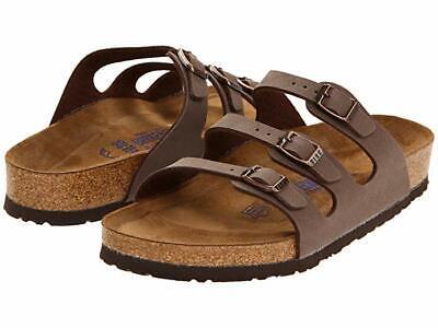 Authentic Birkenstock Florida Soft Footbed Birko-Flor Sandals Mocha for women  Birkenstock Florida Soft Footbed